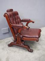 William IV Mahogany and Burgundy Leather Armchair (2 of 12)