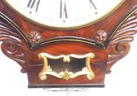 Rare Antique Drop Dial Wall Clock 8 Day Single Fusee Movement Signed J H Harvey Penzance (9 of 12)