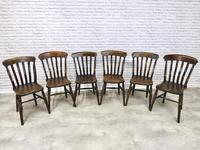 Matched Set of 6 Windsor Lathback Kitchen Chairs (2 of 7)