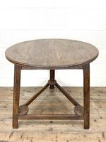 Traditional Style Oak Cricket Table (8 of 10)