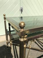 Quality Nest of 3 Brass Tables (2 of 8)