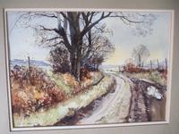 """Geoff Bartlett Watercolour  """"A Quiet Lane,  Dorset"""" (2 of 4)"""