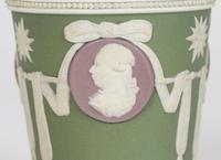 Wedgwood Georgian Three Color Jasperware Medallion Vase c.1790 (13 of 15)