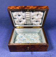 Victorian  French Burr Cedar Jewellery Box with Original Interior (3 of 9)
