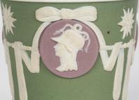 Wedgwood Georgian Three Color Jasperware Medallion Vase c.1790 (10 of 15)