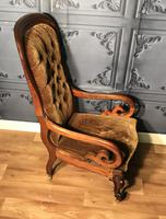 Victorian Mahogany Scroll Arm Nursing Chair (6 of 9)