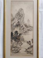 Three Japanese original ink/ watercolour lanscape paintings circa mid. 20th Century (19 of 20)