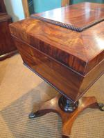 Fine Regency Period Rosewood Teapoy (11 of 12)