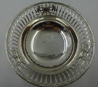 Antique Pierced Silver Dish Sheffield 1917 (2 of 7)