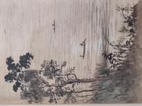 Three Japanese original ink/ watercolour lanscape paintings circa mid. 20th Century (17 of 20)