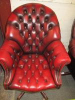 Chesterfield Revolving Leather Directors Chair (2 of 4)