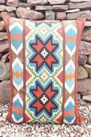 Swedish 'Folk Art' Vintage Large Woven Röllakan Cushion c.1930 (22 of 26)
