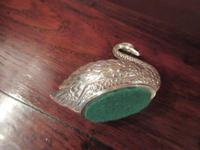 Large Edwardian Antique Silver Swan Pin Cushion (3 of 7)
