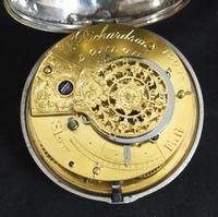 Antique Silver Pair Case Pocket Watch Fusee Verge Escapement Key Wind Enamel Dial Richardson London (8 of 13)