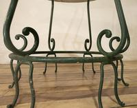 """A 20th Century French Iron and Marble """"orangerie"""" Centre - Garden Table (4 of 13)"""