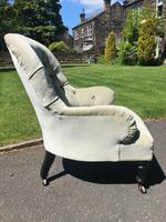 Antique English Upholstered Chair by Cornelius Smith (3 of 8)