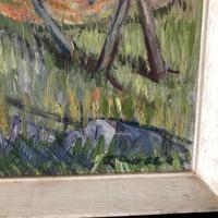 Impressionist Artist Gaussen - Oil on Board - Olive Trees c.1945 (7 of 9)