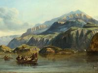 """19th Century Oil Painting """"Bonnie Prince Charlie Crossing To Skye"""" Clarkson Frederick Stanfield RA RBA 1793-1867 (7 of 27)"""