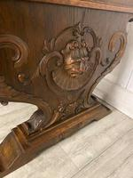 Large Victorian Green Man Library Desk (4 of 6)