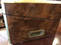 Burr Walnut Brass Inlaid Writing Box (17 of 17)