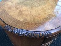 Antique Walnut & Burr Walnut Kidney Shaped Desk (10 of 13)