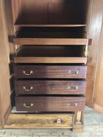 Large Victorian Mahogany Triple Compactum Wardrobe (11 of 11)