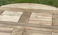 Large Round French Bleached Oak Farmhouse Table with Extensions (16 of 38)