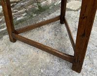 Antique Georgian Oak Cricket Table (13 of 15)