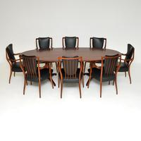 Rosewood & Leather Dining Table & Chairs by AJ Milne for Heals (2 of 22)