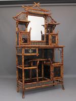 Impressive 19th Century Bamboo Cabinet