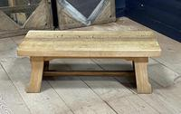 French or Scandinavian Bleached Oak Coffee Table (14 of 15)