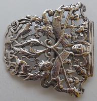 1895 Julius Louis Rosenthal London Hallmarked Solid Silver Nurses Belt Buckle (3 of 7)