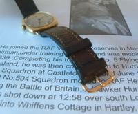 WW2 9ct Gold Longines Gentlemans Wrist Watch 1937 Hurricane Pilot Providence (9 of 12)