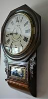 1890 Anglo American Striking Drop Dial Wall Clock (5 of 7)