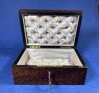 Victorian  French Burr Cedar Jewellery Box with It's Original Interior (10 of 13)
