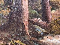 "20th Century Oil Painting Landscape Forest River ""View Through The Trees"" (12 of 20)"