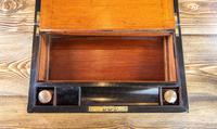 Burr Walnut Brass Bound Writing Slope 1870 (7 of 12)