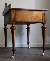 Victorian Pitch Pine Highly Decorated Side Table (5 of 8)