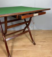 Antique Mahogany Folding Games Coaching Table (7 of 10)