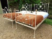 Pretty Pair of Victorian Large Single Beds Seventh Heaven (10 of 11)