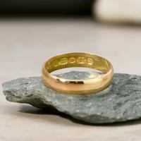 The Antique Victorian 1874 22ct Gold Wedding Band (2 of 2)