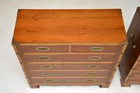 Pair of Yew Wood Military Campaign Style Chests (10 of 14)