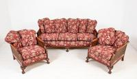 Good Quality Mahogany Bergere Suite (4 of 14)