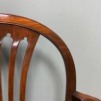 Elegant Pair of Edwardian Walnut Hepplewhite Design Antique Carver Chairs (4 of 7)