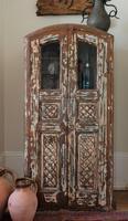 Unique Tall Two Door Teak & Painted Cabinet (8 of 16)