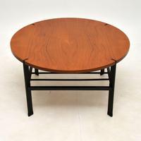 1960's Vintage Teak & Steel Coffee Table (4 of 8)