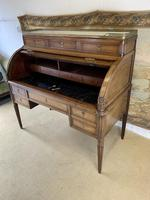 Stunning French Empire Cylinder Desk with Marble Top (5 of 11)