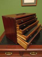 Antique Mahogany Engineers or Toolmakers Drawers, Cabinet, Lockable with Key (20 of 20)