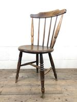 Set of Four Victorian Elm Penny Chairs (6 of 11)
