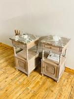 Antique French Bedside Tables / Marble Bedside Cabinets / Nightstands (3 of 7)
